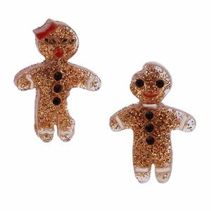 Betsey Johnson Gingerbread Man and Woman Earrings